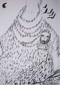 Ceija Stojka, dessin sans titre, 2013.