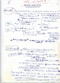 Annie Ernaux, premier feuillet recto du journal d'écriture de Passion simple