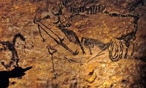 L'homme à tête d'oiseau, Lascaux, puits