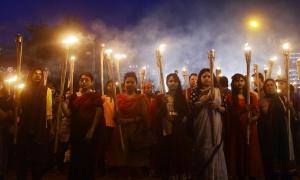 Marche de protestation après la mort  d'Avijit Roy