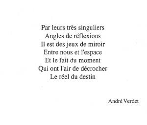 Un poème d'André Verdet
