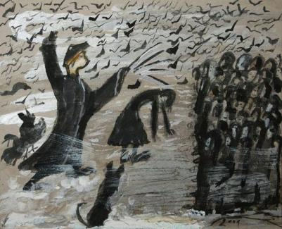 Ceija Stojka Die Peitsche knallt von Frau Pinz 34.5 x 42 cm