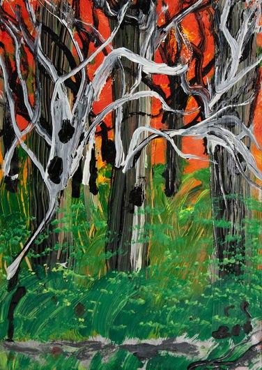 Ceija Stojka, Ohne Titel, 42 x 29.5 cm