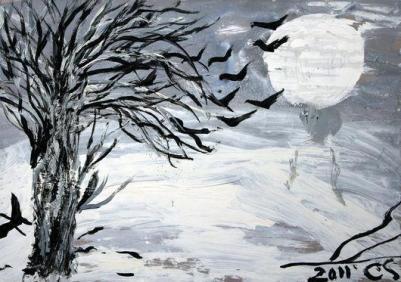 Ceija Stojka, peinture, 2011