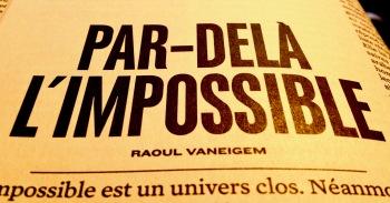 Par-delà l'impossible, Raoul Vaneigem, page de titre