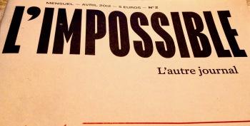 L'Impossible n°2, détail de la première de couve, avril 2012
