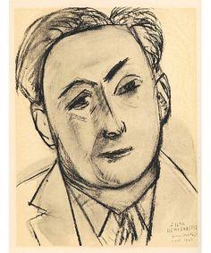 Portrait d'Ylia Ehrenbourg par Henri Matisse, 1946