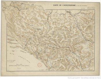 Carte de l'Herzégovine en 1875