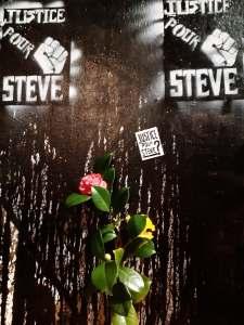 Nuit d'hommage à Steve, huit mois après l'assassinat. Nantes, le 21 février 2020.
